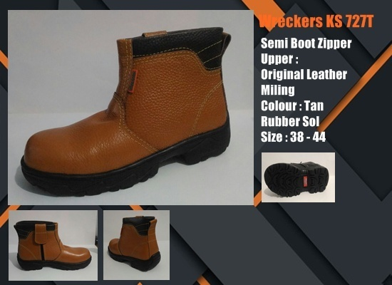 Sepatu Safety SNI Semi Boot Zipper KS727T