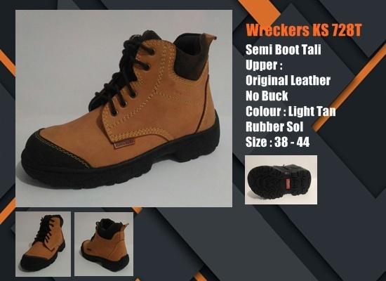Sepatu Safety SNI Semi Boot Tali KS728T