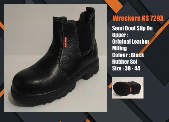 Sepatu Safety SNI Semi Boot Elastic KS729X