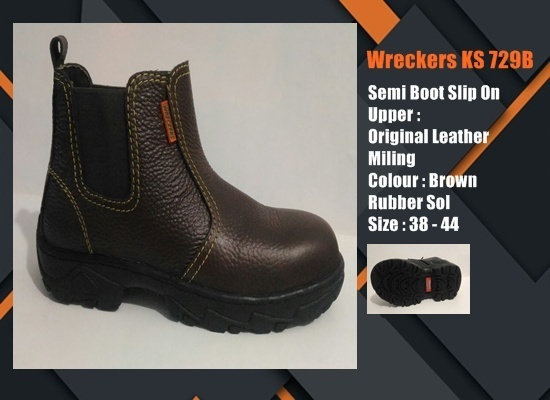 Sepatu Safety SNI Semi Boot Elastic KS729C