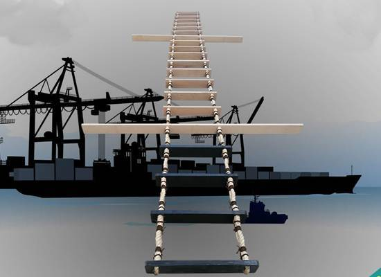 15m marine safety rope ladder with solas approved