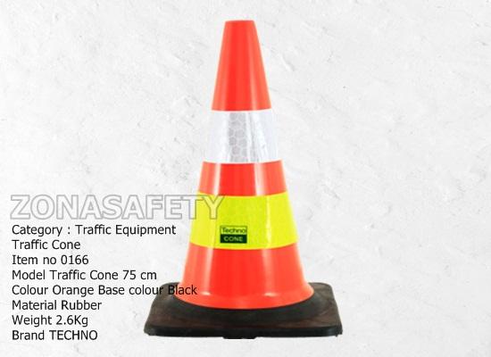 Traffic Cone Black Base 75cm 0166 SL HJ