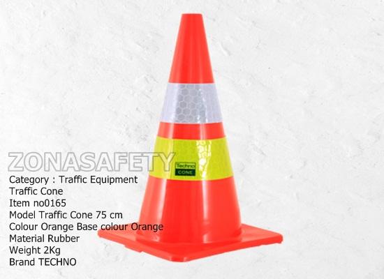 Traffic Cone Orange Base 75cm 0165 SL HJ